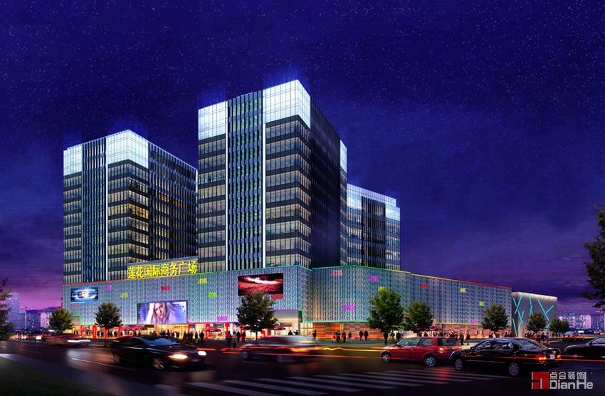 莲花国际商务广场灯光设计